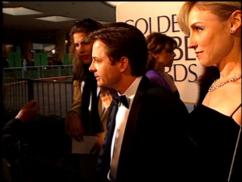 Tracy Pollan at the 1997 Golden Globe Awards at the Beverly Hilton in Beverly Hills California on January 19 1997