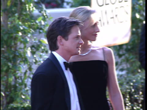 Tracy Pollan at the Golden Globes 97 at Beverly Hilton