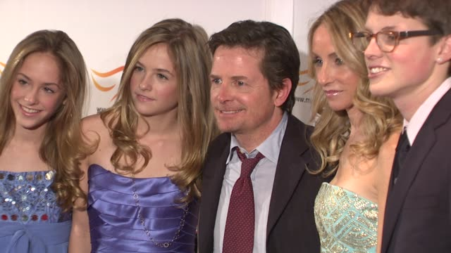 Tracy Pollan Michael J Fox and family at the 'A Funny Thing Happened On The Way To Cure Parkinson's' Benefit at New York NY