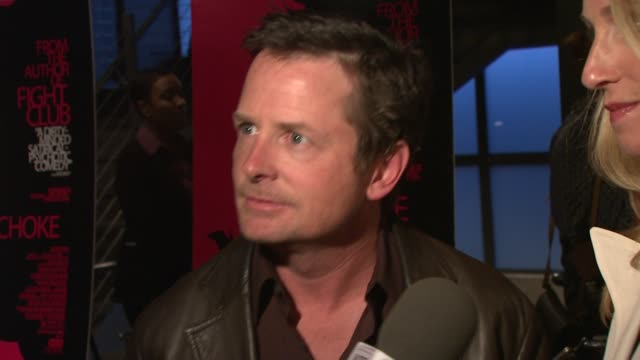 Tracy Pollan Michael J Fox at the Premiere of Choke at New York NY