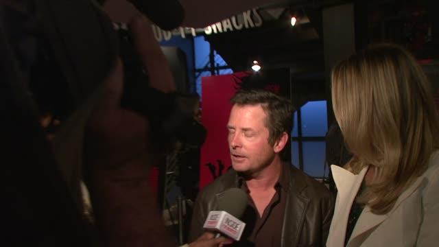 Tracy Pollan Michael J Fox at the Premiere of Choke at New York NY