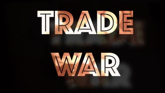 handelskrieg instabilität computergrafik - war stock-videos und b-roll-filmmaterial