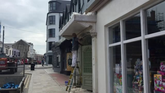 traders have welcomed a £17m regeneration programme in portrush ahead of the open championship in july interviews with surf shop owner andy hill... - the open championship stock-videos und b-roll-filmmaterial