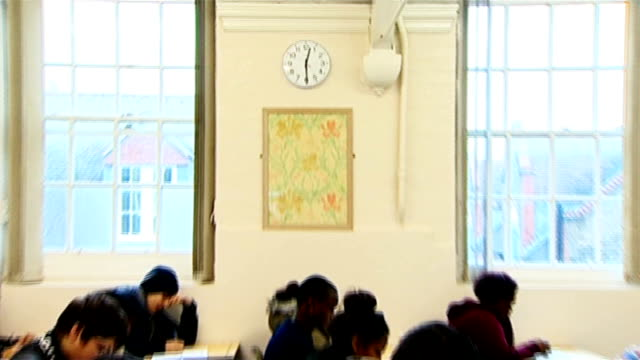 traditional alevel exams to be reintroduced in schools england london william morris sixth form int sixth form students working at desks in classroom... - will.i.am stock videos & royalty-free footage