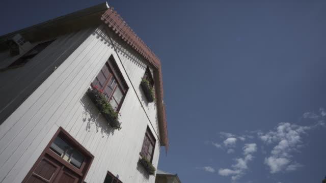 vídeos de stock, filmes e b-roll de traditional architecture of antônio prado, southern brazil. - facade