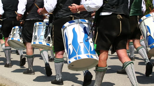 ms traditional bavarian costume parade  - trombone stock videos & royalty-free footage
