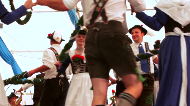 MS Traditional Bavarian dance performed in a beer tent