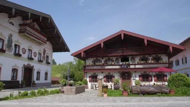 PAN / Traditional bavarian farmhouses in village