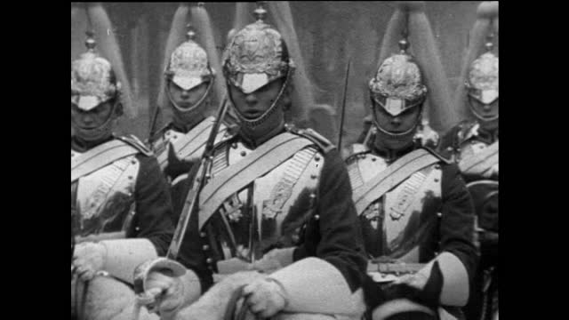 traditional british soldiers on parade in london; 1967 - military uniform stock videos & royalty-free footage