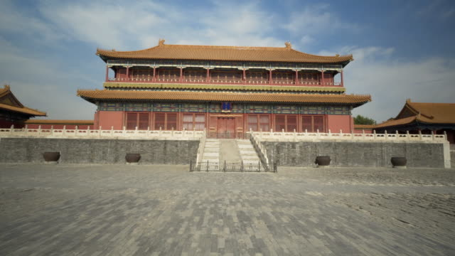stockvideo's en b-roll-footage met traditional building against sky in forbidden city - beijing, china - verboden