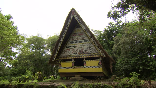 stockvideo's en b-roll-footage met traditional building in palau - traditie