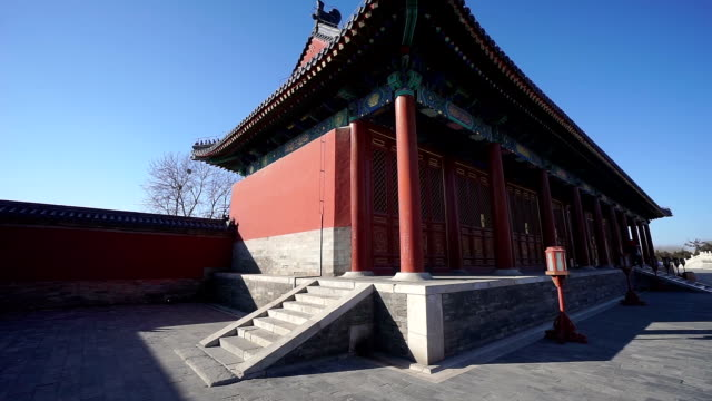 traditional chinese architecture - temple of heaven stock videos & royalty-free footage