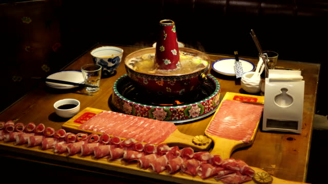 traditional chinese copper hot pot - beijing stock videos & royalty-free footage