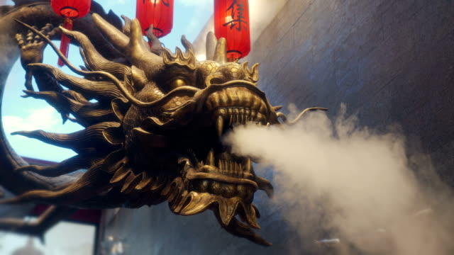 traditional chinese dragon - falling water stock videos & royalty-free footage