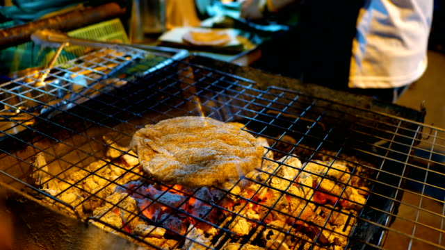 Traditional Chinese  Grilled Pancake in Street Food Festival, Chaing Rai Province, Thailand
