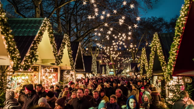 traditional christmas market - christmas market stock videos & royalty-free footage