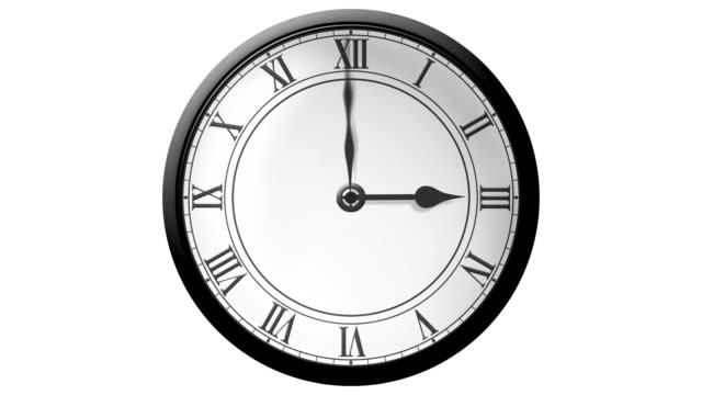 traditional clock timelapse hd - romersk siffra bildbanksvideor och videomaterial från bakom kulisserna