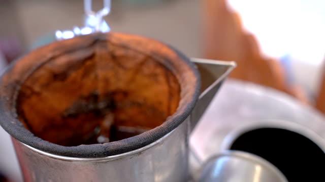 traditional coffee style folk wisdom. - 荒い麻布点の映像素材/bロール