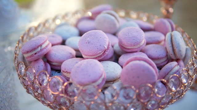 traditional colorful french macarons - french bakery stock videos & royalty-free footage