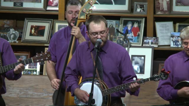 traditional country and bluegrass musicians perform on the site where ap carter was born visitors get a taste of traditional appalachian music - bluegrass music stock videos and b-roll footage