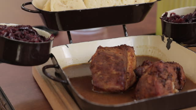 Traditional Czechoslovakian Food, Old Town, Prague, Czech Republic, Europe