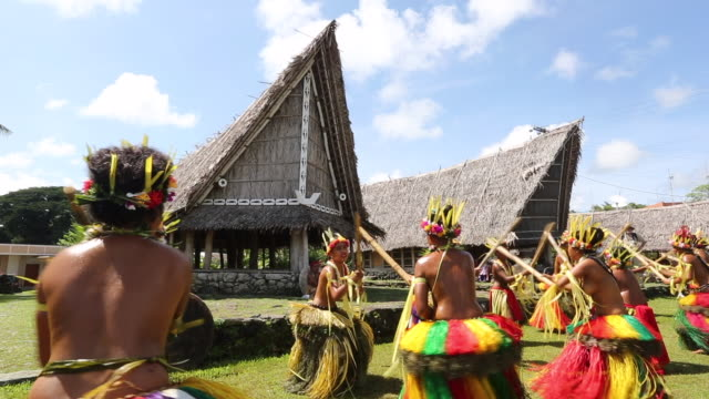 A traditional dance is performed on Yap Micronesia