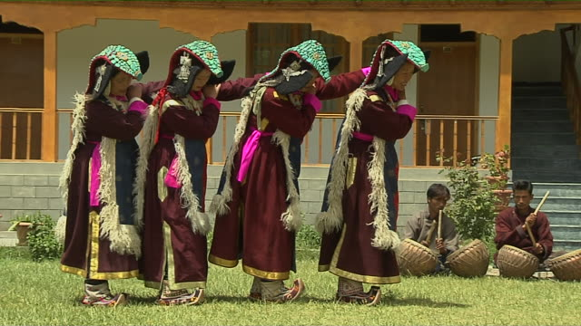 traditional dance ladakh jammu and kashmir india - 金管楽器点の映像素材/bロール