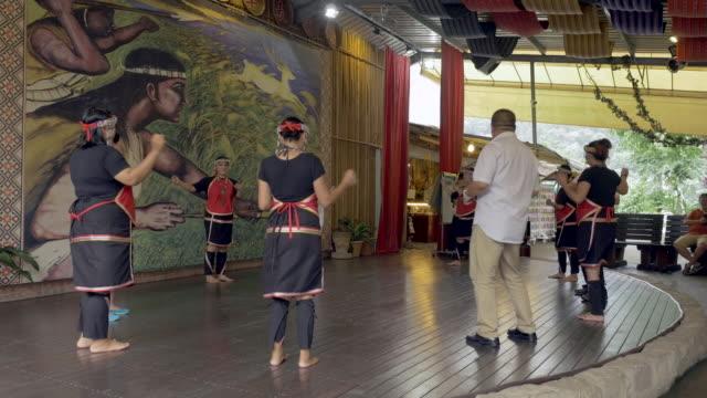 traditional dancers in sun moon lake, taiwan - sun moon lake stock videos and b-roll footage