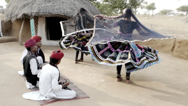 traditional dancers. rajasthan. india. - rajasthan stock videos and b-roll footage