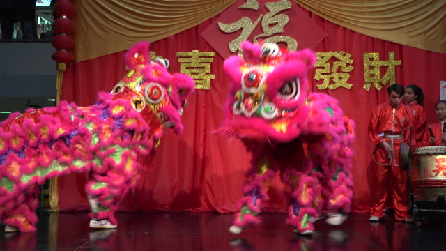 Traditional Dragon Dance at the 2017 Toronto Chinatown Chinese New Year Celebration The year of Rooster in one of the biggest North American...