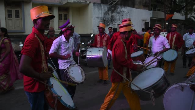 traditional drummer perform traditional and folk music, india - musician stock videos & royalty-free footage