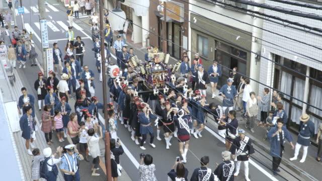 vídeos de stock, filmes e b-roll de traditional festival of japan - festival tradicional