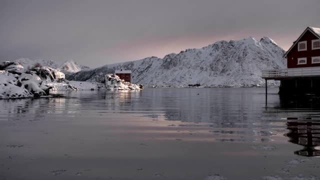 Traditional Fishing Huts Lofoten Norway