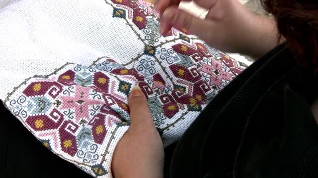 Traditional Greek embroidered handicraft