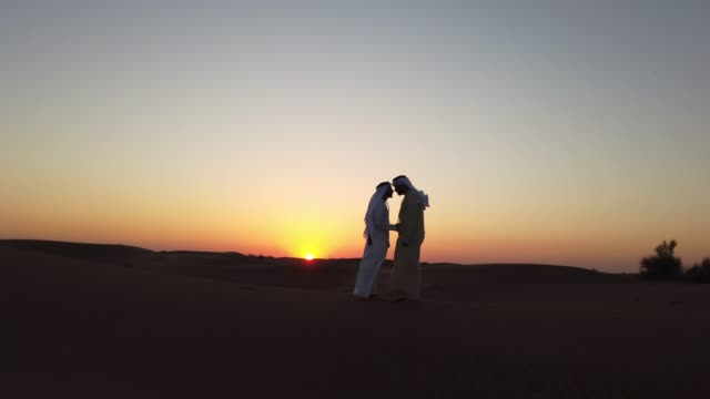 traditional greeting - arabs in the desert - greeting stock videos & royalty-free footage