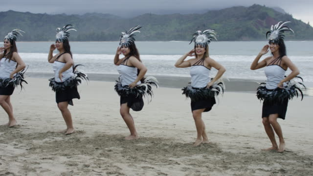 traditional hawaiian hula dancers - big island hawaii islands stock videos & royalty-free footage