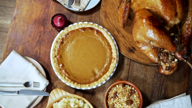 vídeos de stock, filmes e b-roll de jantar de peru tradicional recheada de férias - turkey