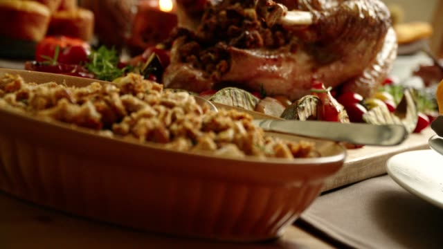 Traditional Holiday Stuffed Turkey Dinner