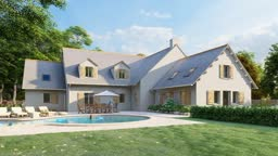 Traditional house with pool and garden
