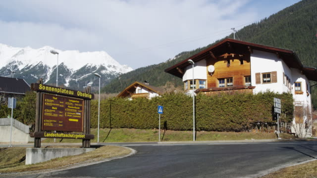 Traditional Houses in Obsteig a popular skiing resort in Tyrol