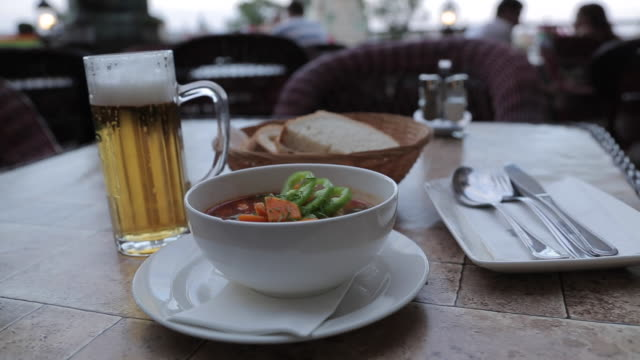 Traditional Hungarian Food, Castle Hill District, Budapest, Hungary, Europe