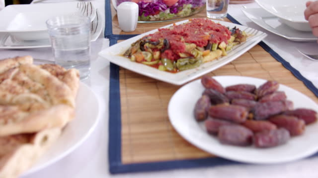 traditional iftar food - ramadan stock videos and b-roll footage