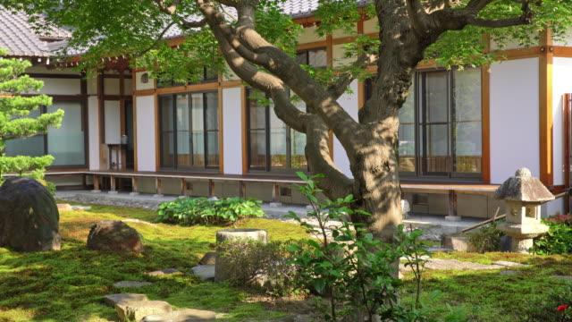 DS 伝統的な日本庭園の裏庭で
