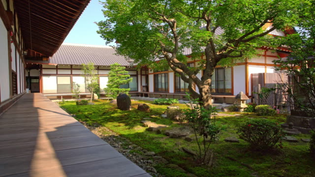ds traditional japanese house with the garden - formal garden stock videos & royalty-free footage