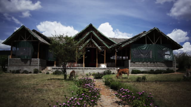 traditional kenyan home - global village stock videos & royalty-free footage