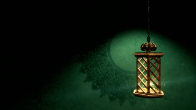 traditional lantern - eid mubarak stock videos & royalty-free footage