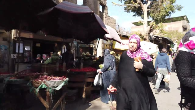 traditional market in cairo, egypt - egypt stock videos & royalty-free footage