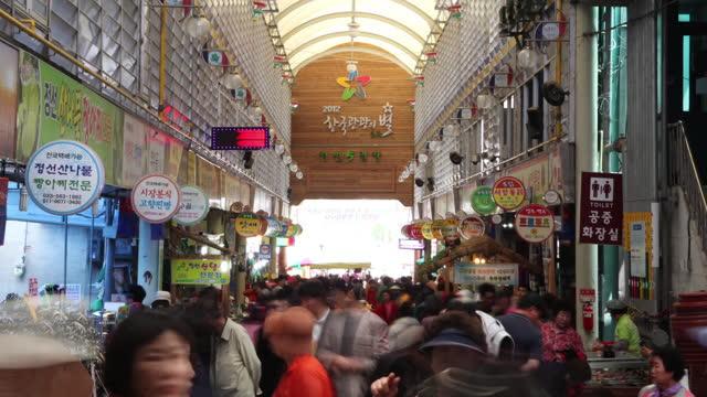 traditional market / jeongseon-gun, gangwon-do, south korea - shopaholic stock videos & royalty-free footage
