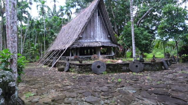 traditional meeting house on yap, micronesia - pacific islands stock videos & royalty-free footage
