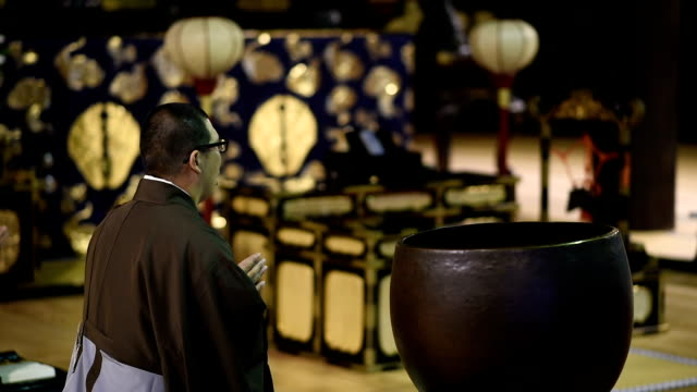 traditional monk ceremony at a japanese temple - tatami mat stock videos and b-roll footage